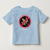 Allergic To Wheat Kids Allergy Personalized Toddler T-shirt