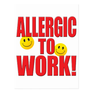 Allergic Work Life Post Cards