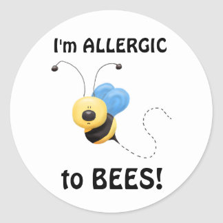 AllergicTo Bees Sticker