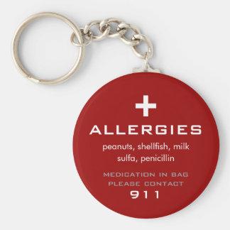 Allergies Keychain