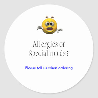 Allergies sticker
