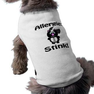 Allergies Stink Skunk Awareness Design Dog Tee Shirt