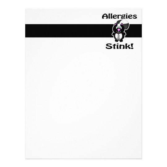 Allergies Stink Skunk Awareness Design Letterhead