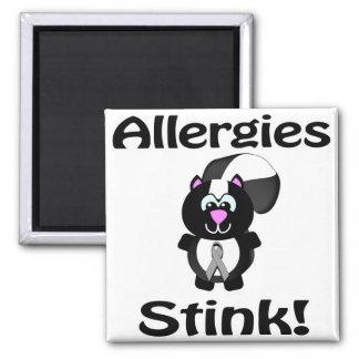 Allergies Stink Skunk Awareness Design Magnet