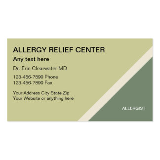 Allergist Business Cards