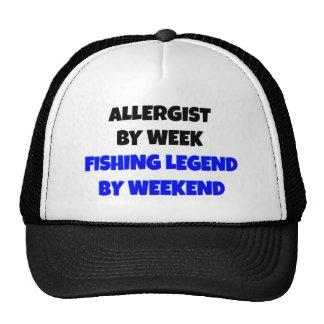 Allergist de la leyenda de la pesca gorra