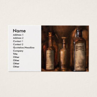 Allergist - Medicine for Asthma and Pain Business Card