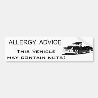 Allergy Advice Bumper Sticker