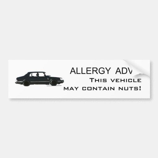Allergy Advice Bumper Stickers