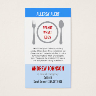 Allergy Alert Blue Sky Duotones Business Card