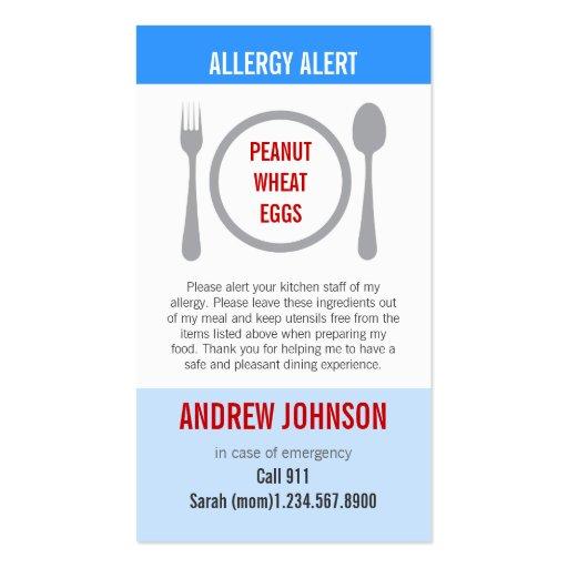 Allergy Alert Blue Sky Duotones Business Card Templates