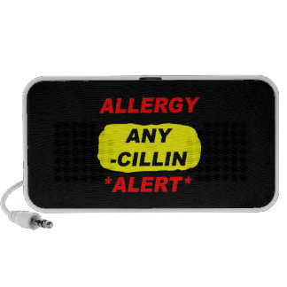 Allergy Alert cillin derivitives Allergy Design Al Mp3 Speakers
