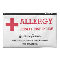 Allergy Alert Epinephrine Inside Custom Emergency Travel Accessory Bag