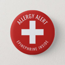 Allergy Alert Epinephrine Inside Medical Emergency Button