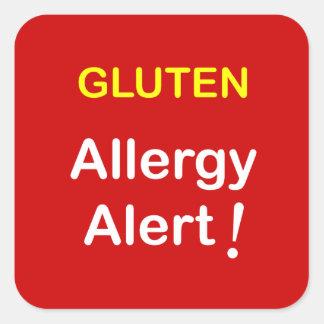 Allergy Alert - GLUTEN. Square Sticker