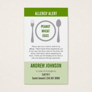 Allergy Alert Grass Duotones Business Card