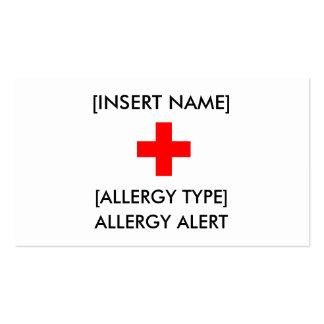 Allergy Alert ID/I.C.E. Card