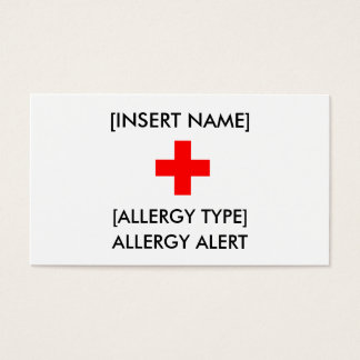 Allergy Alert ID/I.C.E. Card