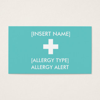 Allergy Alert ID/ICE Card