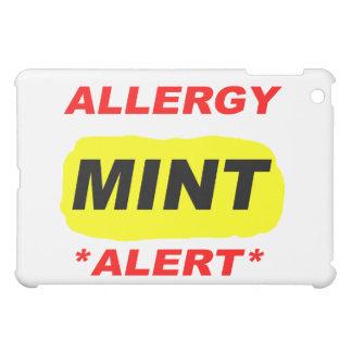Allergy Alert Mint Allergy Design, Mint allergic iPad Mini Cover