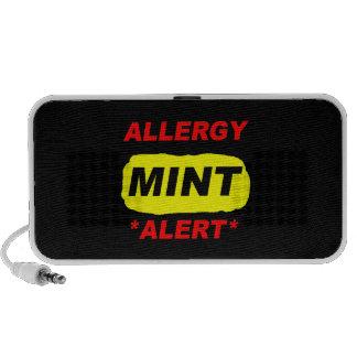 Allergy Alert Mint Allergy Design, Mint allergic Portable Speaker