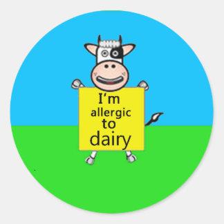 Allergy alert (more designs in store) round stickers
