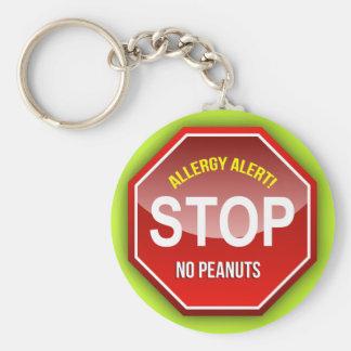 Allergy Alert : No Peanuts Please! Keychains