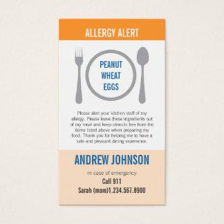 Allergy Alert Orange Duotones Business Card