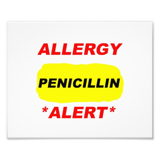 Allergy Alert Penicillin Allergy Design Allergic Photo