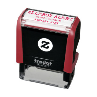Allergy Alert Personalized Kids Basic Self-inking Stamp