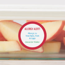 Allergy Alert Personalized Kids Food Allergy Labels
