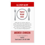 Allergy Alert Red Duotones Double-Sided Standard Business Cards (Pack Of 100)