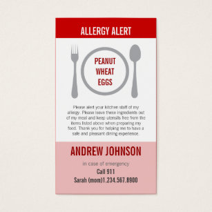 Mom business cards templates zazzle allergy alert red duotones business card colourmoves