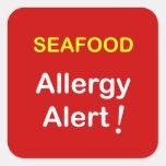 Allergy Alert - SEAFOOD. Square Sticker