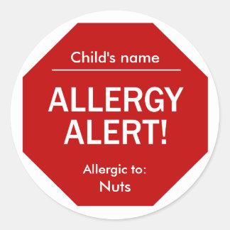 Allergy Alert stickers