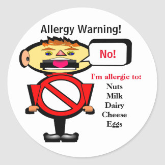 Allergy Alert Warning Label
