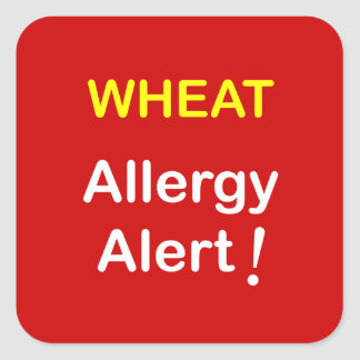 Allergy Alert - WHEAT. Square Sticker
