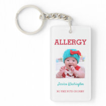 Allergy Custom Photo In Case of Emergency Kids Keychain