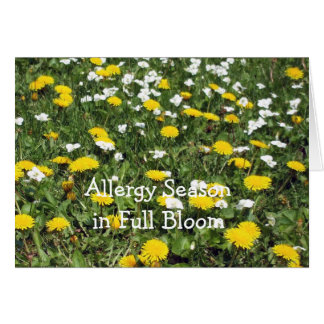 Allergy-Field of Wild Flowers Card