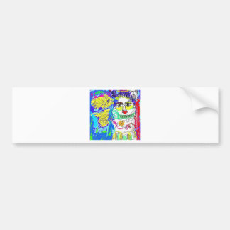 Allergy Folk Art Digital Drawing Bumper Sticker