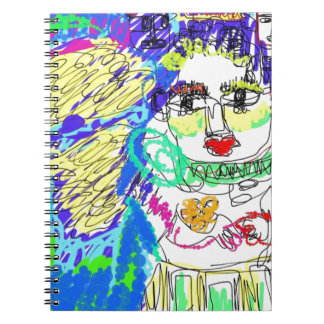 Allergy Folk Art Digital Drawing Spiral Note Book