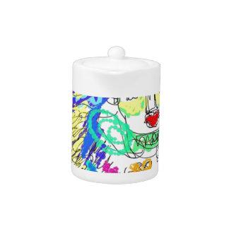 Allergy Folk Art Digital Drawing Teapot
