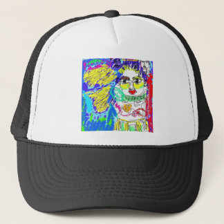 Allergy Folk Art Digital Drawing Trucker Hat