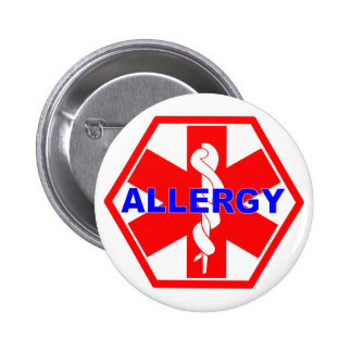 ALLERGY ID TAG PINBACK BUTTON