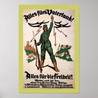 Alles Furs Vaterland WWI Poster (canvas)