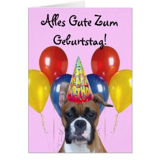 Alles Gute Zum Geburtstag! Birthday  Boxer Card
