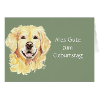 Alles Gute zum Geburtstag Golden Retriever Dog Pet Card
