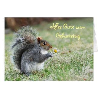 Alles Gute zum Geburtstag Squirrel Card