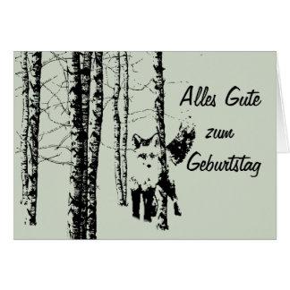 Alles Gute zum Geburtstag Wald Fuchs Card
