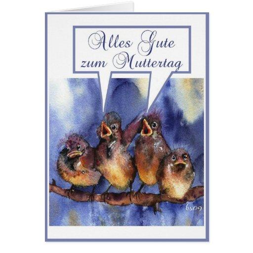 alles Gute zum Muttertag Greeting Card